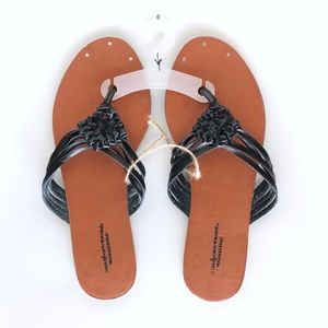 America Eagle Outfitters Black Sandals